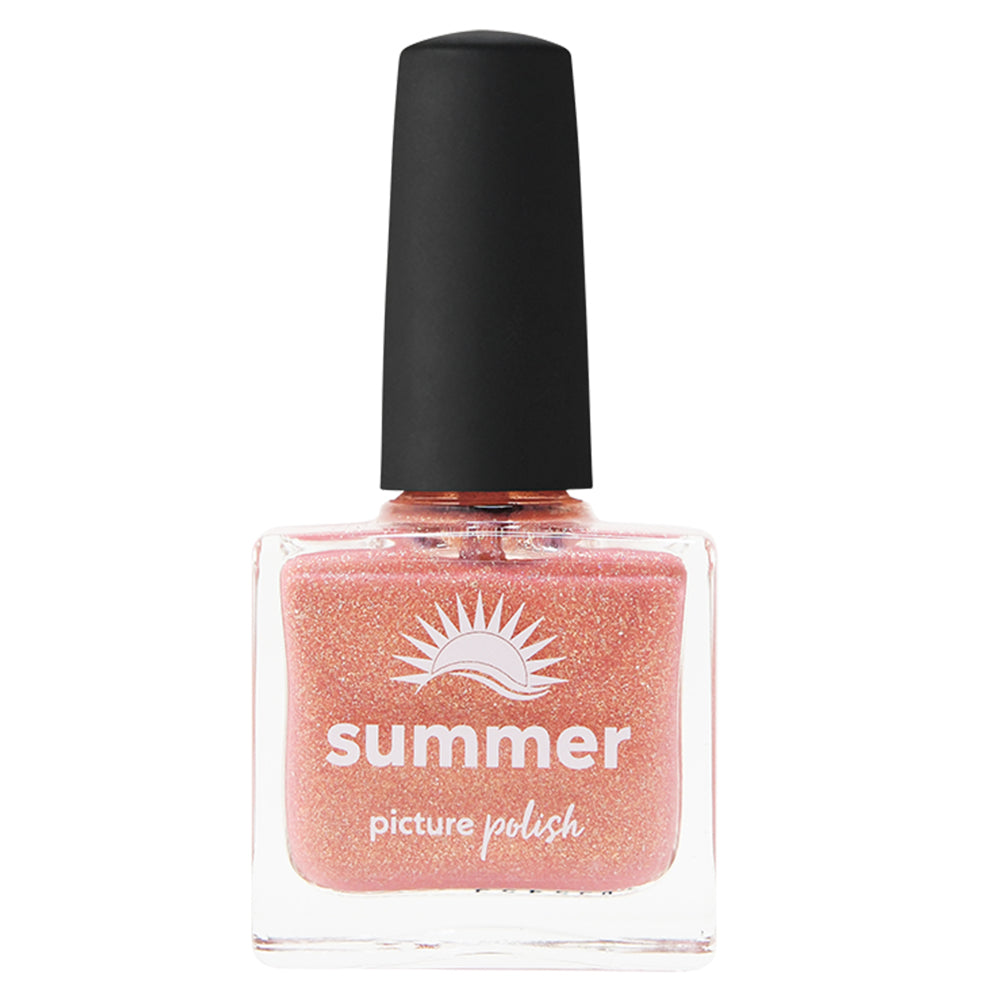 Picture Polish Summer golden peach holographic nail polish