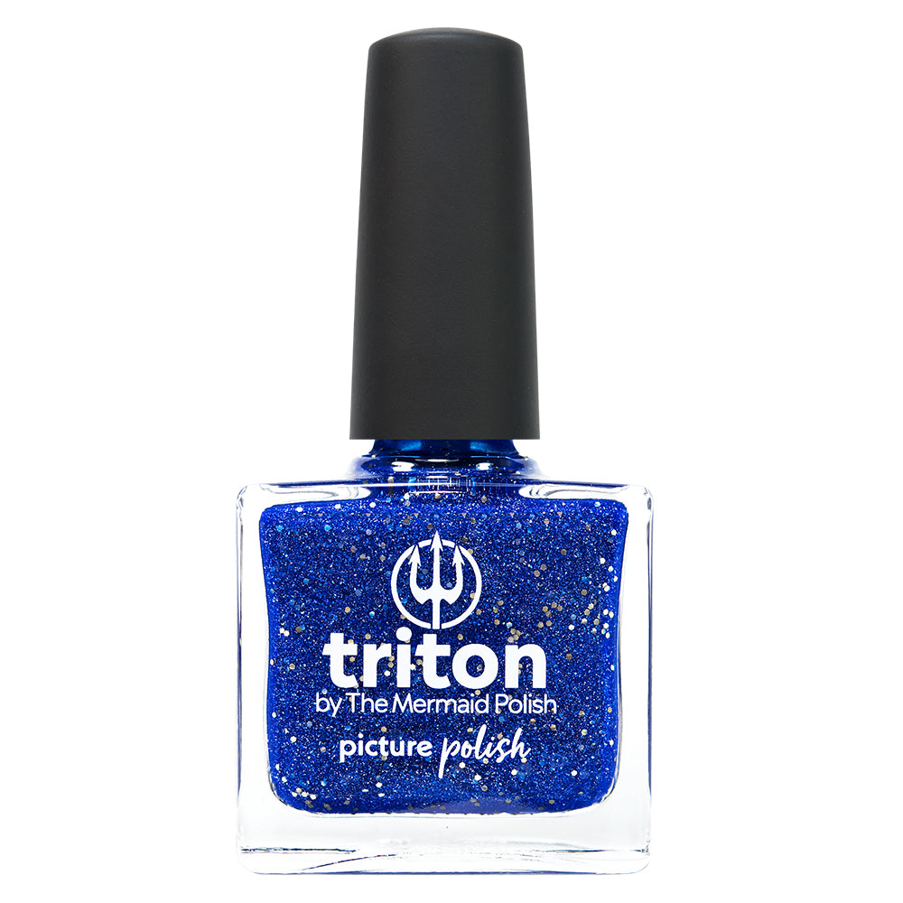 Picture Polish Triton electric blue holographic nail polish