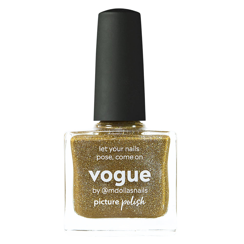 Picture Polish Vogue antique gold holographic nail polish