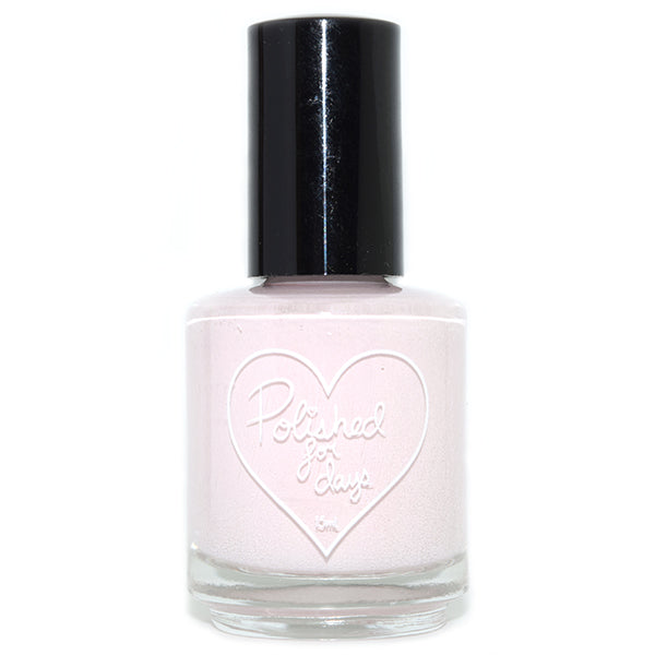 Polished for Days Rose Quartz pale baby pink creme nail polish