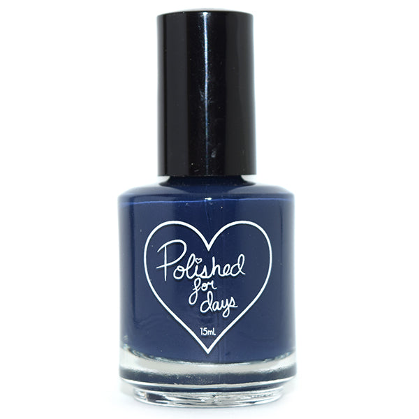 Polished for Days Salt Water navy creme nail polish