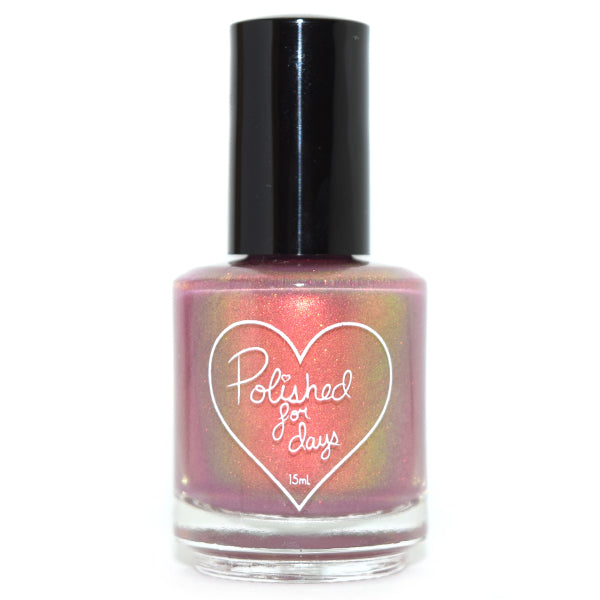 Polished for Days Briar Rose shimmer nail polish Imagination Collection