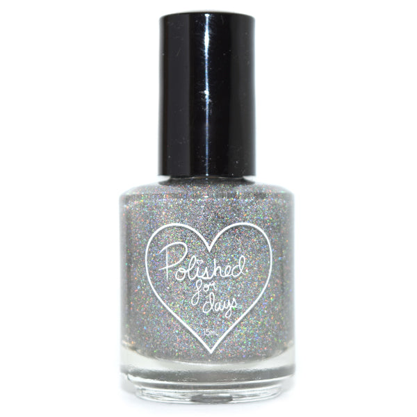 Polished for Days Halo holographic topper nail polish