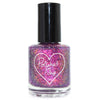 Polished for Days Inspire purple pink flakie nail polish 2020 New Years Duo