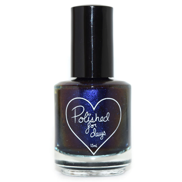 Polished for Days Reflection navy shimmer nail polish Imagination Collection
