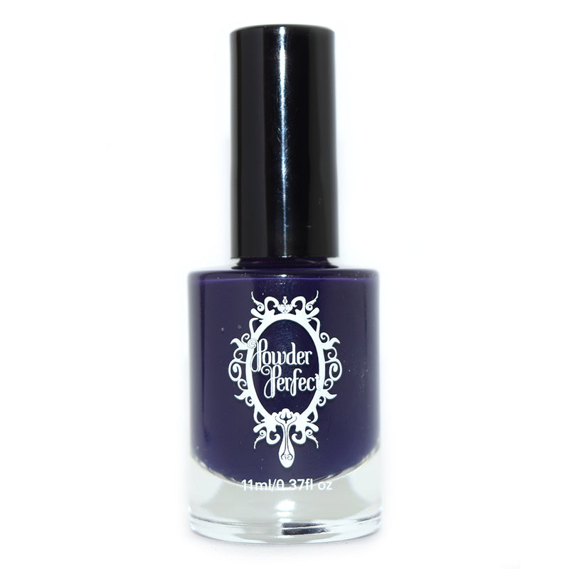 Powder Perfect Watchful Nights dark blue creme nail polish