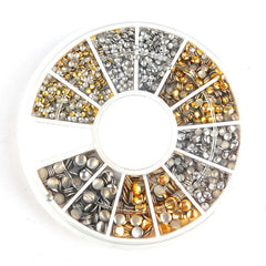 Round Silver & Gold Mixed Studs