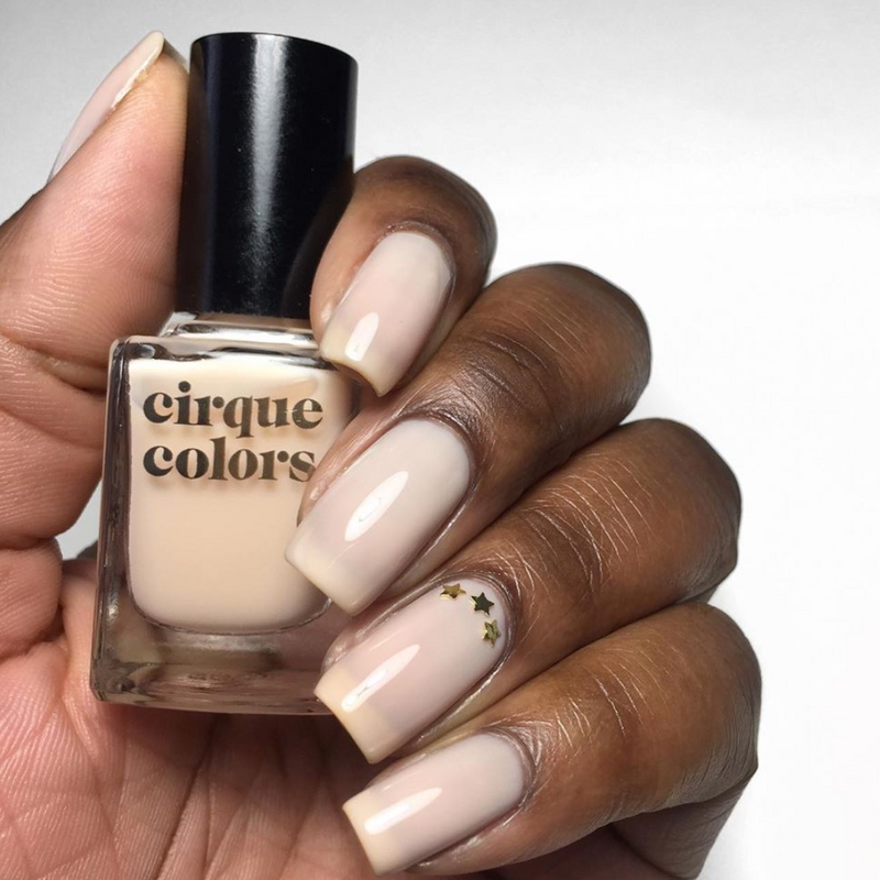 Cirque Colors Organza sheer milky peach nail polish swatch