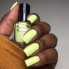Cirque Colors Trompe L'oiel neon pastel citron green creme nail polish swatch