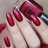 A-England Nevermore ruby-red holographic nail polish swatch