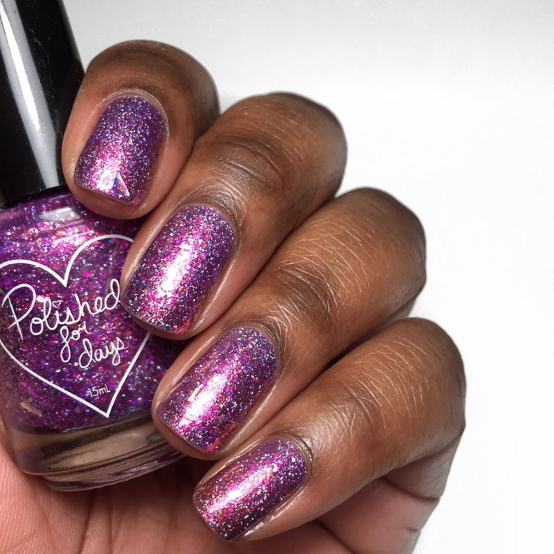 Polished for Days Inspire holographic flakie nail polish New Years Duo 2020