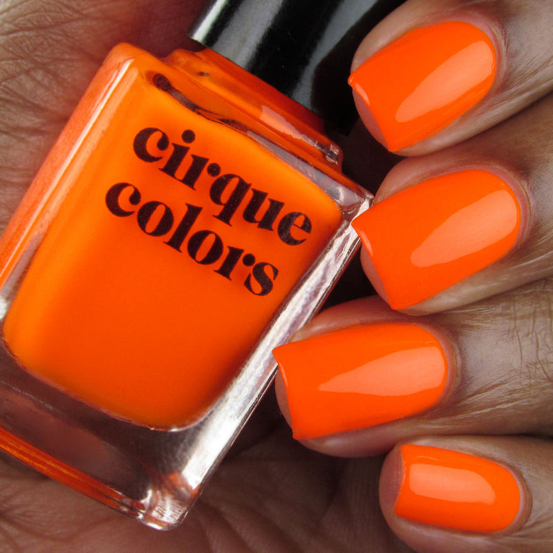 Cirque Colors Superfreak neon orange creme nail polish swatch Vice 2020 Collection