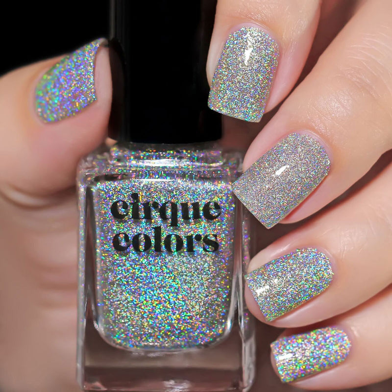 Cirque Colors Crushed Ice holographic nail polish Facets 2019 Collection