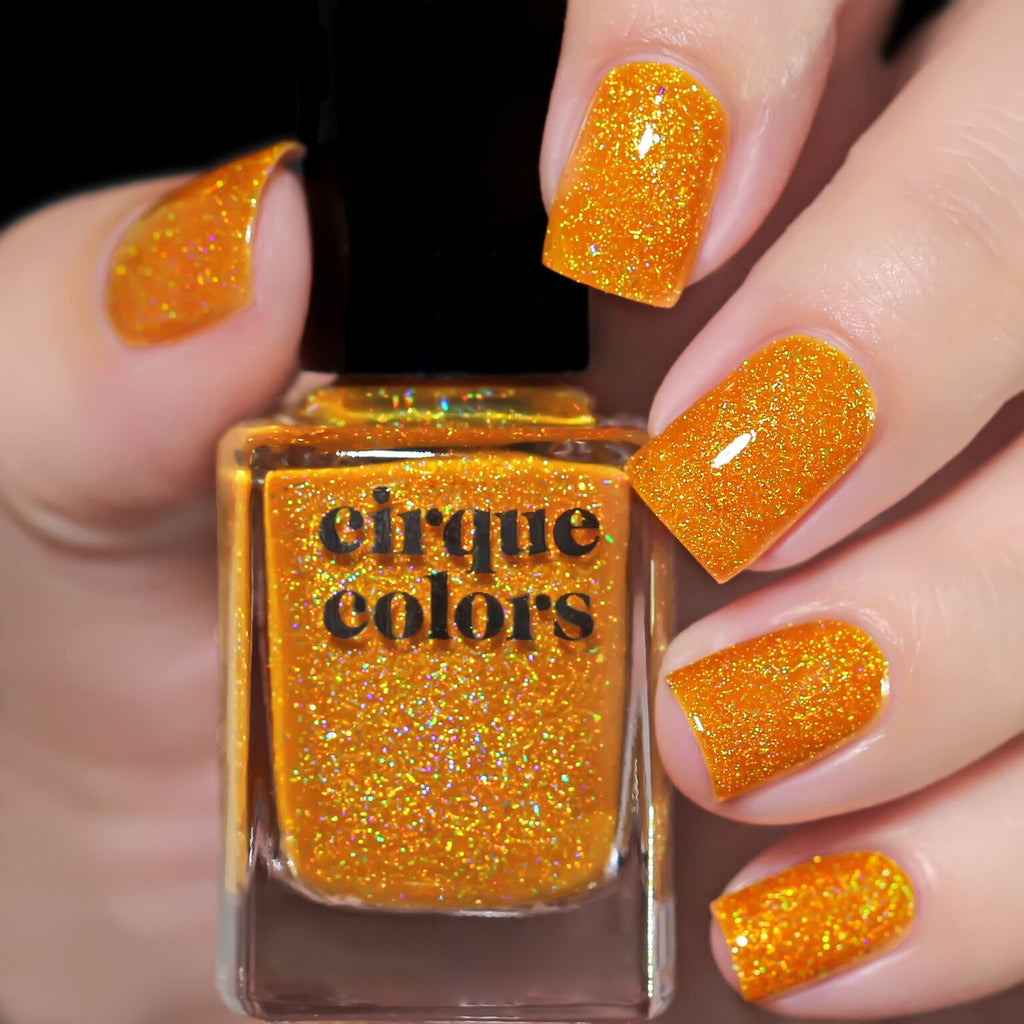 Cirque Colors Citrine holographic nail polish Facets 2019 Collection