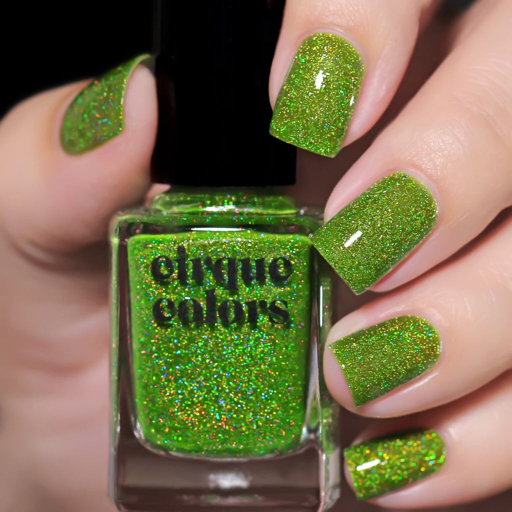Cirque Colors Peridot holographic nail polish Facets 2019 Collection