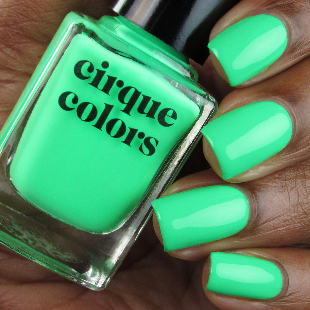 Cirque Colors Thirsty neon creme nail polish swatch Vice 2020 Collection