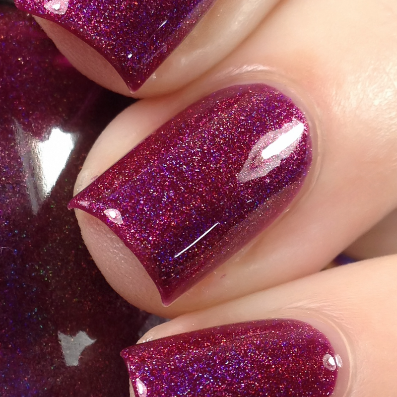 KBShimmer Under Cover berry holographic nail polish