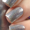KBShimmer Under Pressure silver metallic holographic nail polish