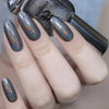 A-England Tower of London gunmetal grey holographic nail polish