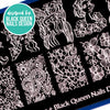 Artist Collab x Black Queen Nails Design Stamping Plate