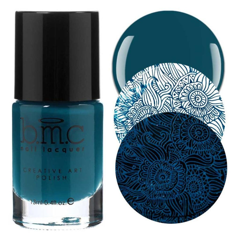 Bundle Monster Teardrop deep turquoise stamping nail polish