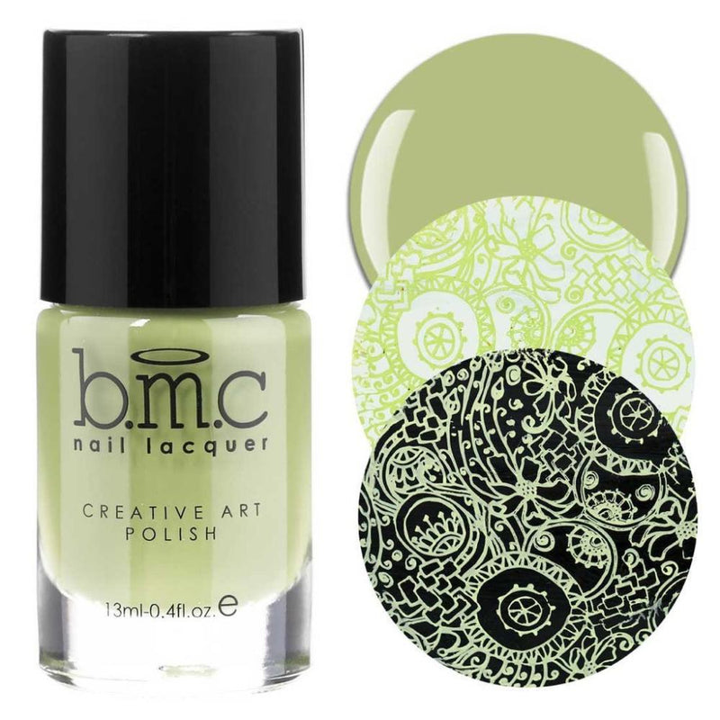 Bundle Monster Soft Sage stamping nail polish