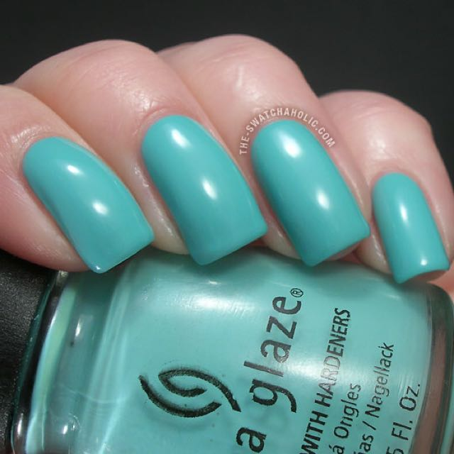 China Glaze For Audrey turquoise creme nail polish swatch