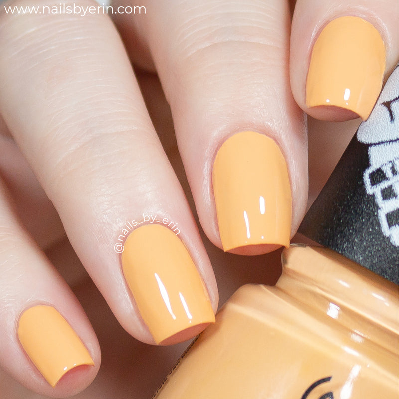 China Glaze Delta Darlin' dusty orange creme nail polish swatch Trolls World Tour Collection