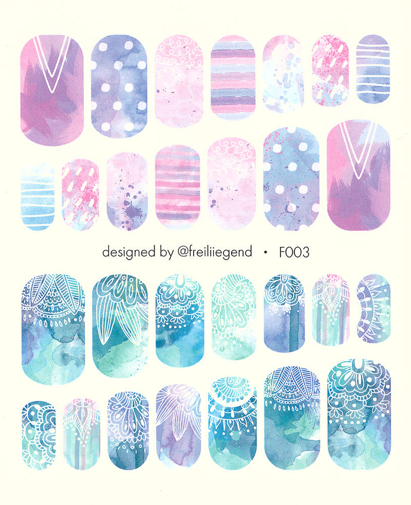 F003 Water Slide Decals