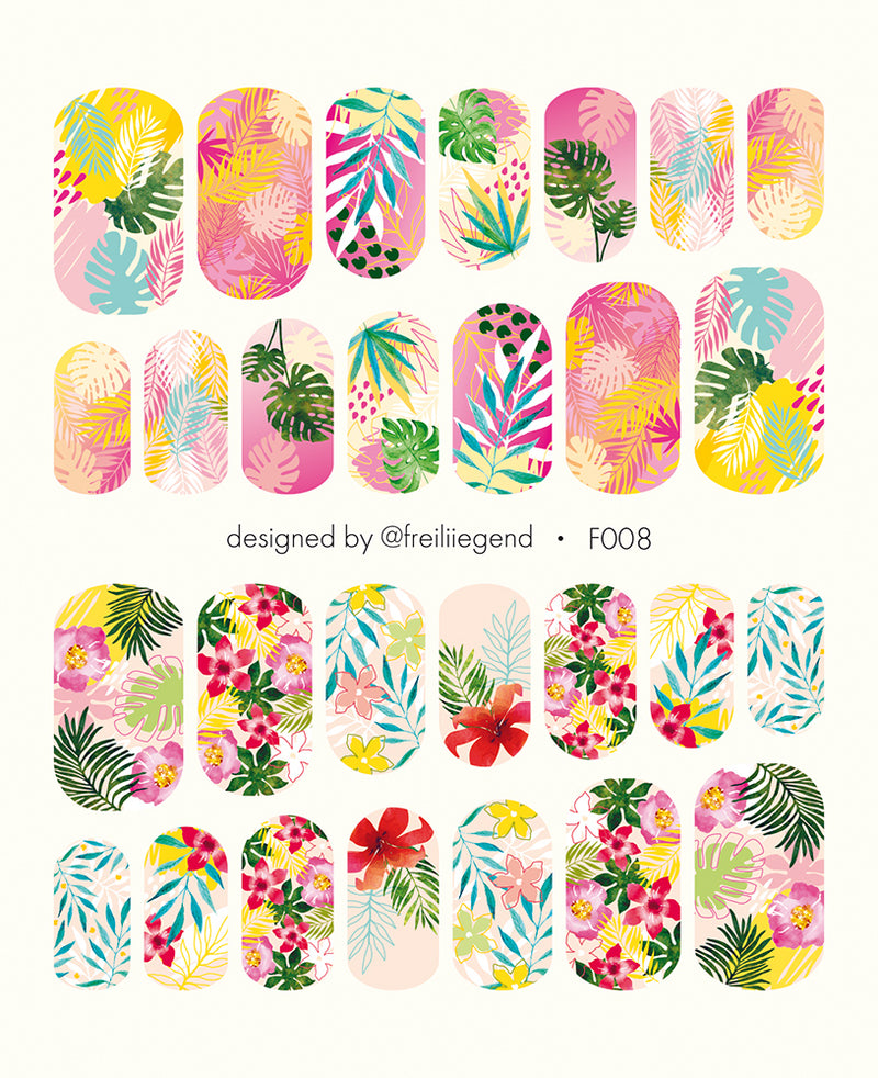 F008 Water Slide Decals