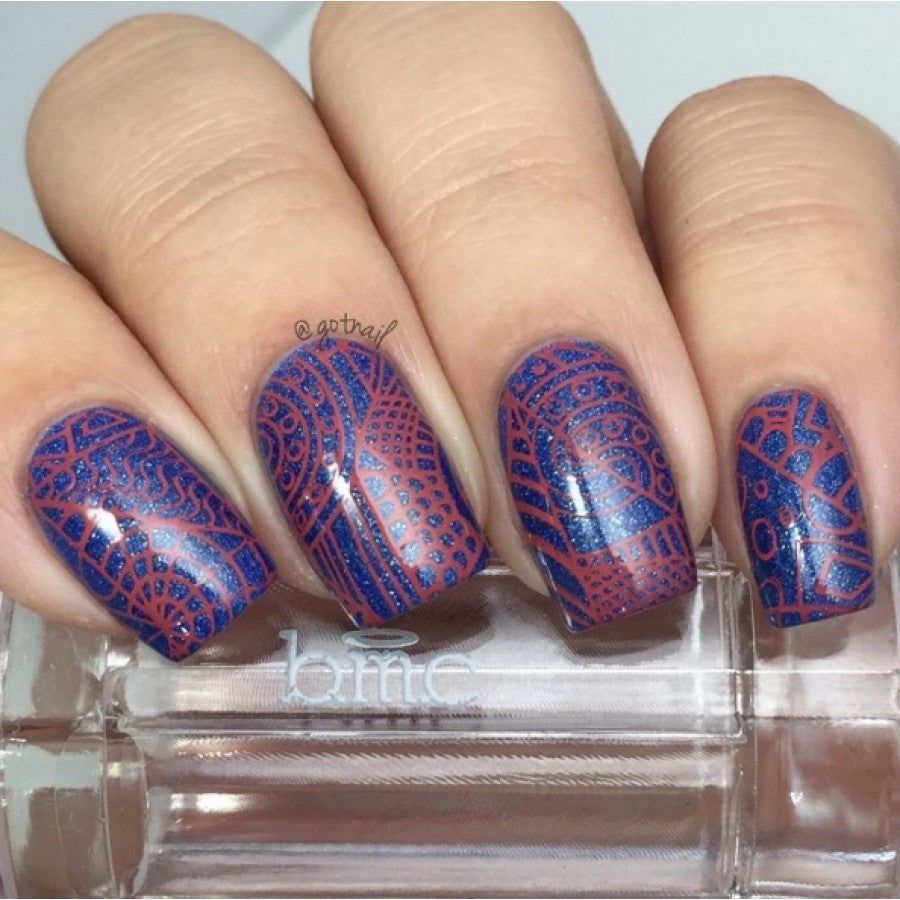 Paisley Flow Stamping Plate - Shattered Tranquility