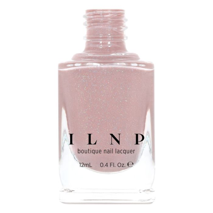 ILNP CEO DUSTY PINK NUDE HOLOGRAPHIC NAIL POLISH