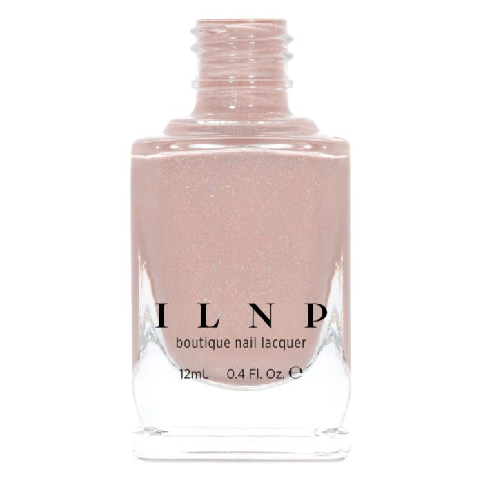 ILNP Overcoat CREAMY BEIGE HOLOGRAPHIC NAIL POLISH