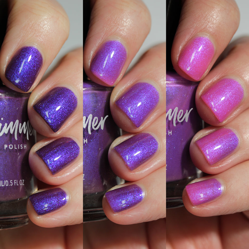 KBShimmer Aft Backwards tri-thermal nail polish Sun's Out Collection