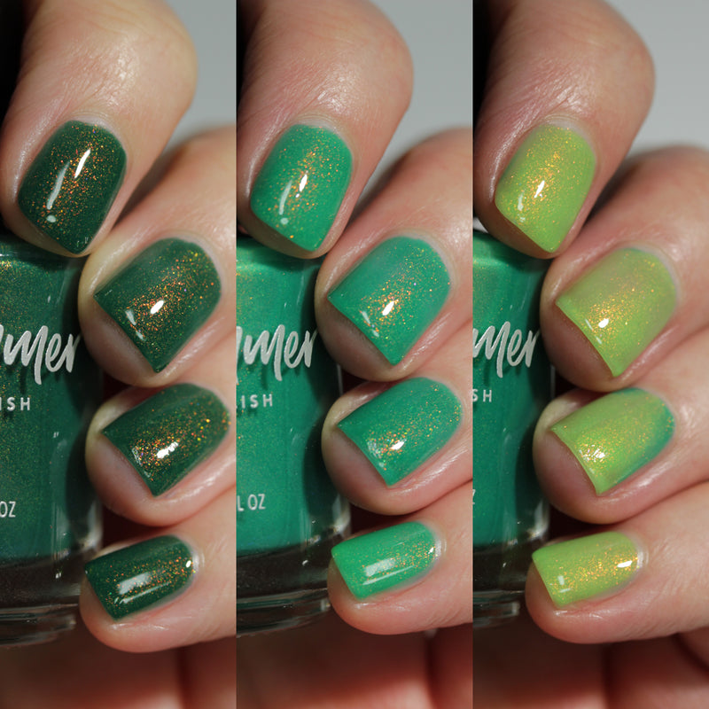KBShimmer Aloe There tri-thermal nail polish Sun's Out Collection
