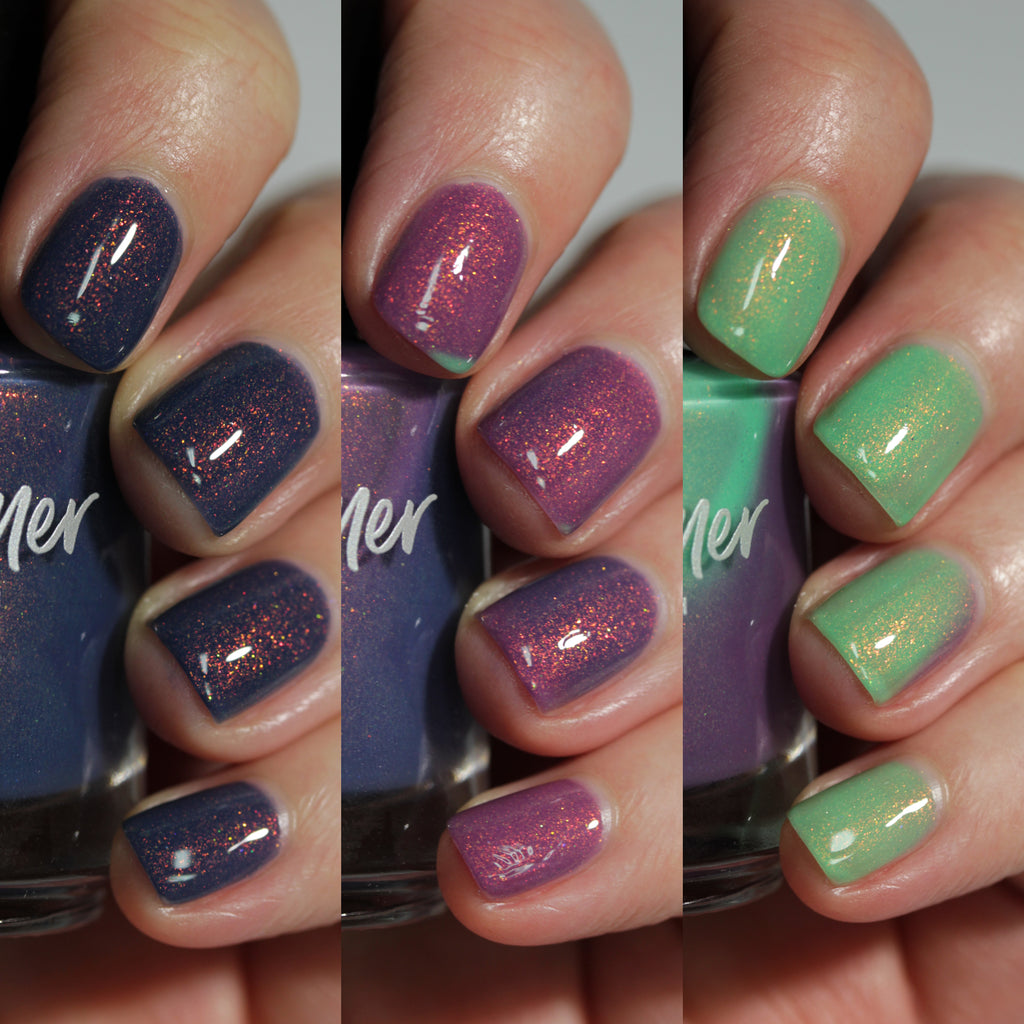 KBShimmer Best Buds tri-thermal nail polish Sun's Out Collection