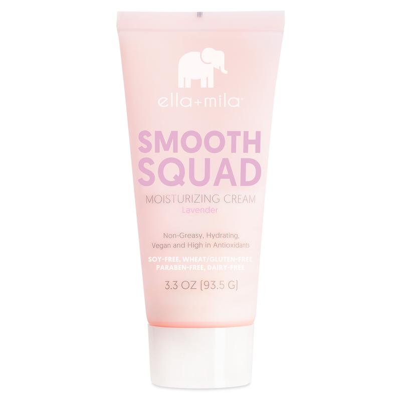 ella mila Smooth Squad Moisturizing Cream Lavender lotion