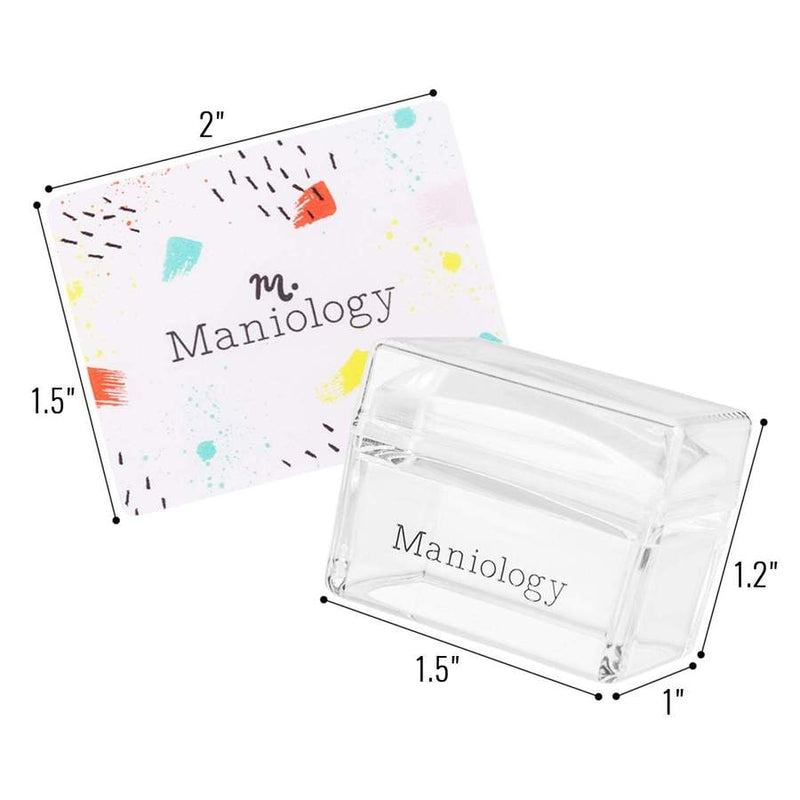 Ice Cube Clear Rectangular Stamper & Scraper
