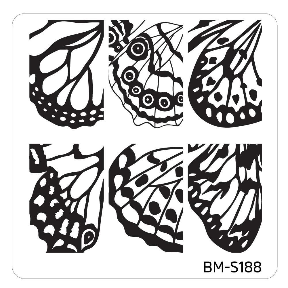 Mystic Woods Stamping Plate - Butterfly Wings