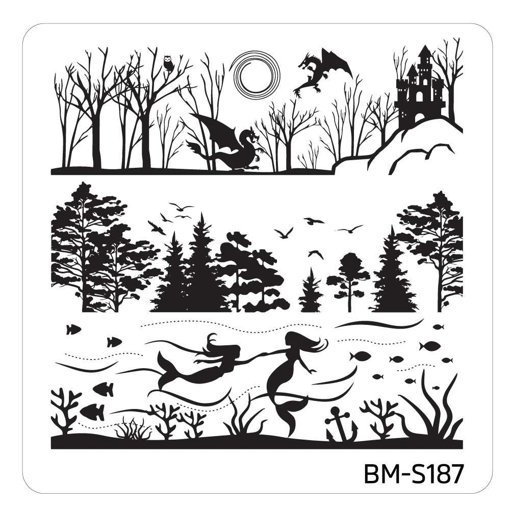 Mystic Woods Stamping Plate - Sky + Sea