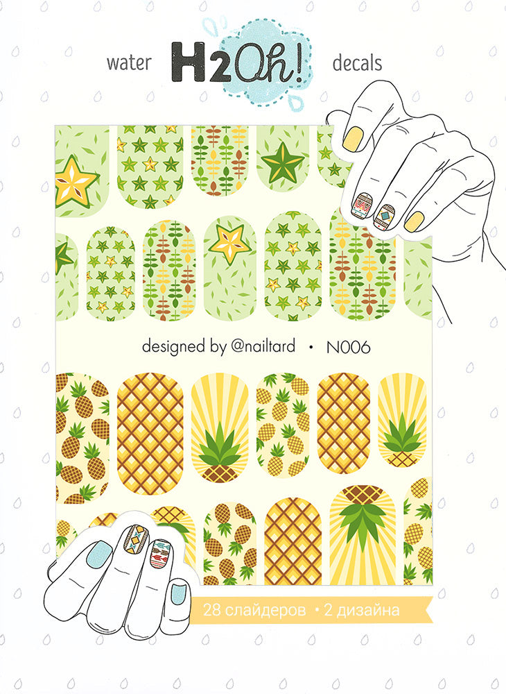 N006 Water Slide Decals