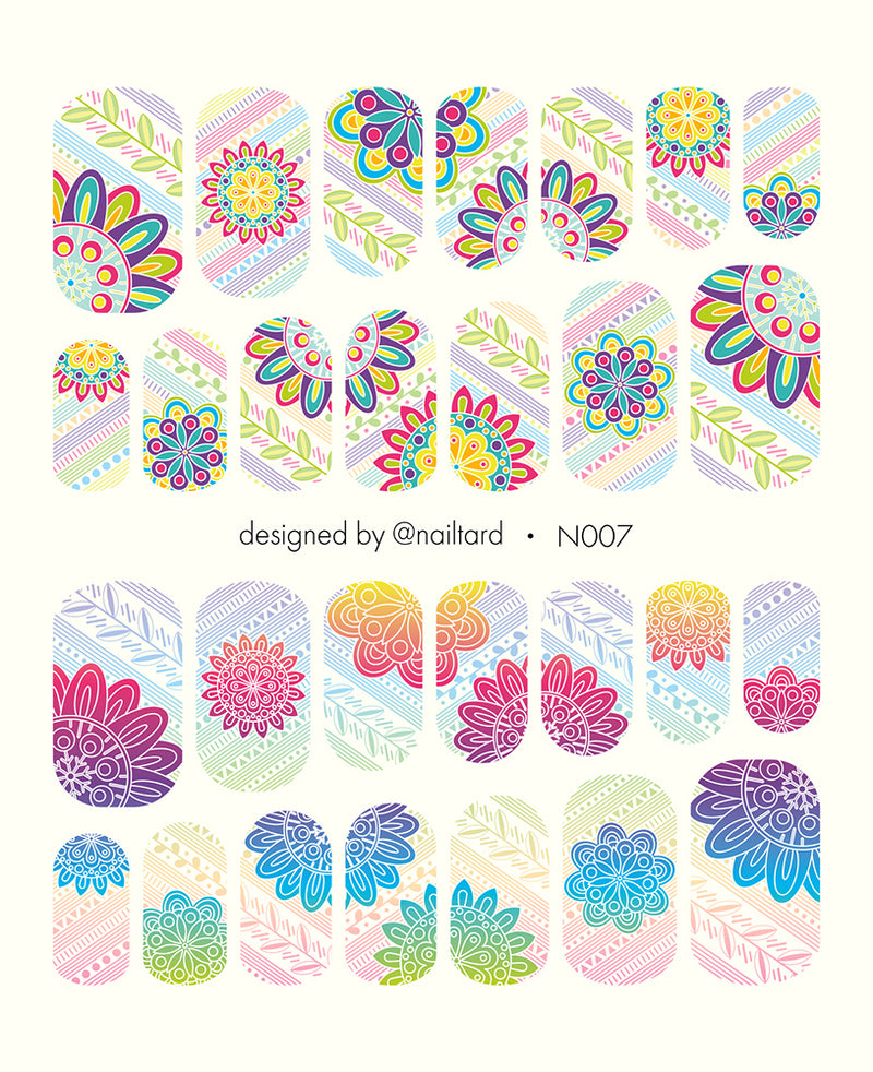 N007 Water Slide Decals