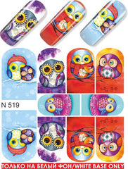 Adorable Winter Owls Water Slide Decal