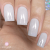 Picture Polish Innocence frosty white holographic nail polish swatch
