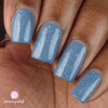 Picture Polish St Petersburg pewter blue holographic nail polish swatch