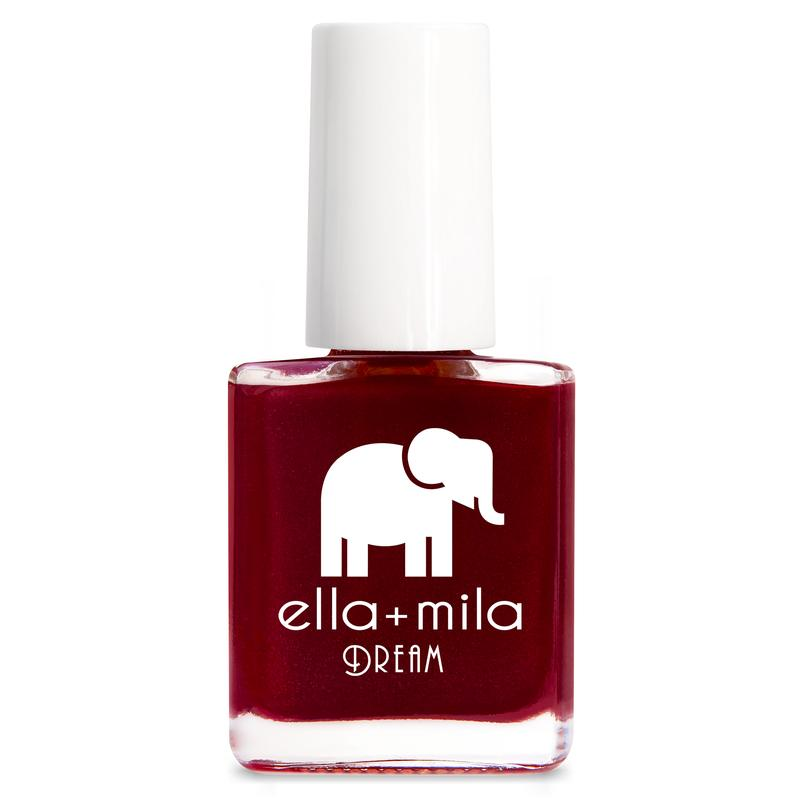 ella mila Nightdreamer dark red creme nail polish