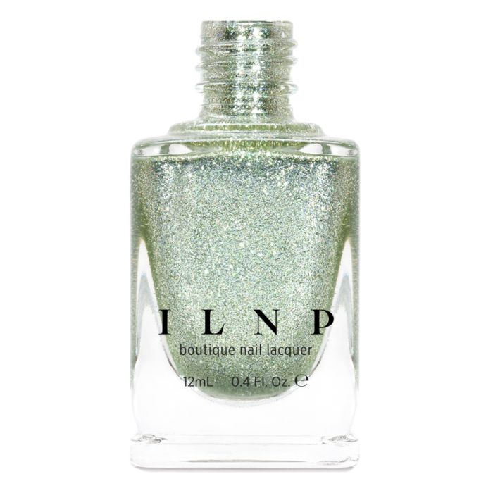 ILNP On The Way PISTACHIO GREEN HOLOGRAPHIC METALLIC NAIL POLISH