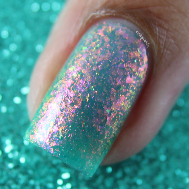 Polished for Days Moonwake flakie nail polish swatch Enchanted Woods Collection