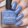 Picture Polish Bluebird periwinkle blue holographic nail polish swatch
