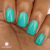 Picture Polish Family seafoam green holographic nail polish swatch